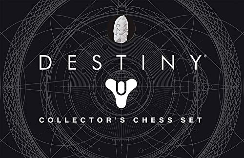 USAOPOLY Destiny Chess Set | Destiny 2 Video Game Chess Game | 32 Custom Sculpt Collectable Figure Chess Pieces and Custom Chess Board