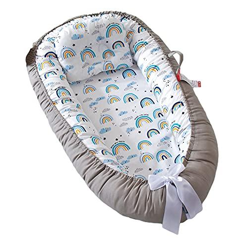 Nido de bebé, Vaina de Baby Tumbona, jerarquía de bebé para recién Nacidos y bebés, algodón Transpirable y Peso Ligero, cojín para bebés tumbonas de algodón Suave portátil POD para Dormir