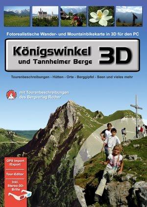 Königswinkel und Tannheimer Berge 3D (Fotorealistische Wander- und Mountainbikekarte in 3D für den PC)