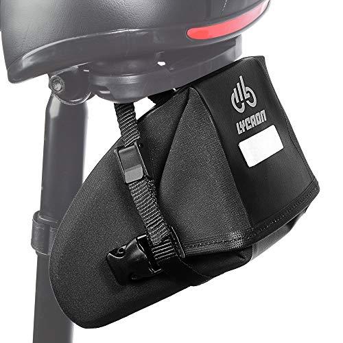 LYCAON Bolsa para sillín de bicicleta con cierre de cremallera impermeable para bicicleta MTB BMX