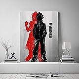 JFHSJ Póster My Hero Academia Eijiro Kirishima póster Lienzo Pared Arte Decor Impresiones Sala de...