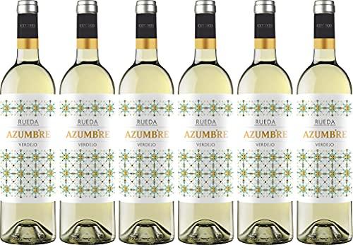 Vino Blanco Azumbre Verdejo D.O Rueda - 6 botellas de 750 ml - Total: