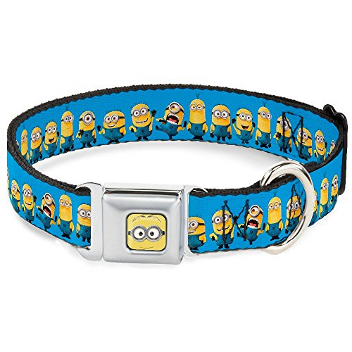 BDown Buckle Down Minions Despicable Me Dog Collars (Wide Ribbon Width (1.5