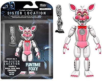 """Funko Five Nights At Freddy's Fun Time Foxy Articulated Action Figure, 5"""""""