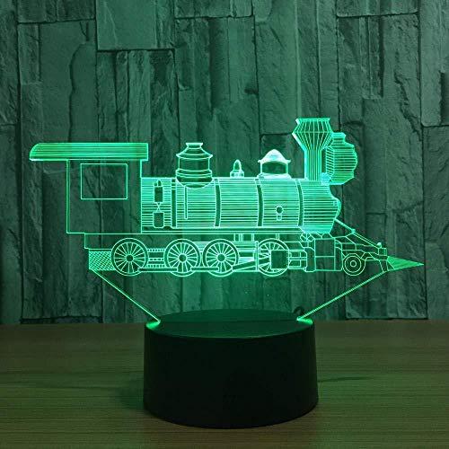 Decoratieve hoorn locomotief Alien acryl 3D plexiglas lichtgeleiding, creatief nachtlampje, romantisch cadeau voor vakantie