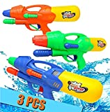 Ucradle 3 Pack Pistolets à Eau, Super Water Gun Jeux Plein Air Longue Distance, 300ml Suqirt Gun 6m Rage, Jet d'eau de Tir Jouet L'été pour Piscine Jardin Plage, Enfants et Adultes
