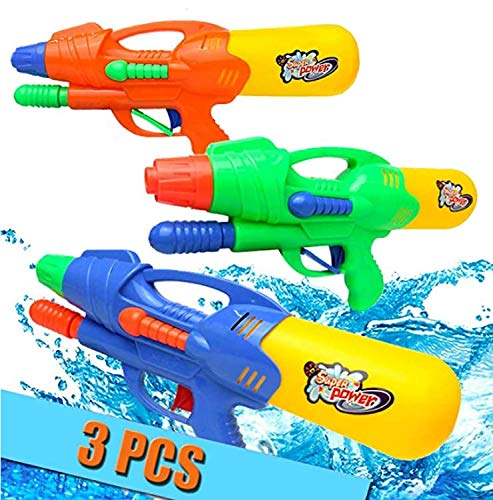 Ucradle Pistole ad acqua 3 Pcs, Pistola ad Acqua per Bambini Super Squirt Gun Giocattoli Pistole ad Acqua Pistole ad Acqua Giocattolo Giocattoli per la lotta contro l'acqua per bambini Ragazze Ragazzi