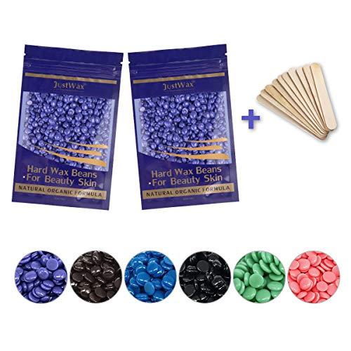Wachsbohnen Haarentfernung Wachsperlen -Wachs Haarentfernung -Wax Beans -Waxing Perlen -Waxing Wachs -Waxing Wax -Waxperlen -Hard Wachs Beans Niedrigtemperatur ohne Vliesstreife 200g(Lavendel)