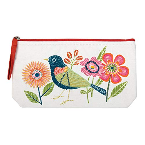 Avian Friends Embroidered Handmade Pouch (Gift)
