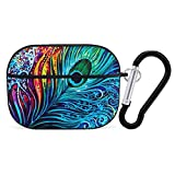 Airpods Case,Colored Peacock Protective Stylish Air Pod Earpods Case Cover with Keychain Compatiable with Apple AirPod 3