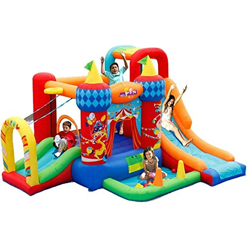 LQH Castillos hinchables Plaza de Juegos para niños Inicio Juguetes de Interior Niños Inflatable Circo Trampolín Inflables Castillos inflables (Color : Multicoloured , Size : Colored )