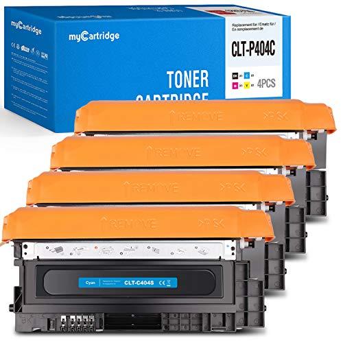 MyCartridge Toner Kompatibel zu CLT-P404C für Samsung Xpress c480fw c480w C480 C480FN C430 C430W(Schwarz/Cyan/Magenta/Gelb)