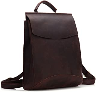 Sponsored Ad – Accompanying Crazy Horse Skin Backpack Men's And Women's Shoulder Bag Head Layer Of Cowhide Handcrafted 31...