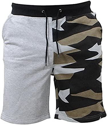 Challyhope Men Sports Shorts, Fashion Comfy Camouflage Splice Pockets Shorts Drawstring Athletic Pants