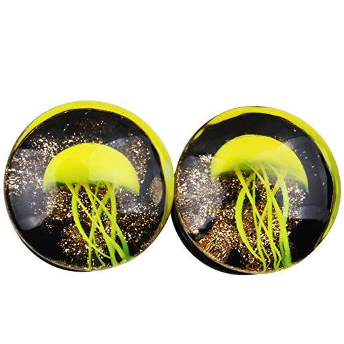 Lai-LYQ Oorstekers voor dames, mode Unisex kwallen patroon oor pluggen Tunnel Expander Body Piercing Sieraden voor Bar Party Fashion Ornament Gift