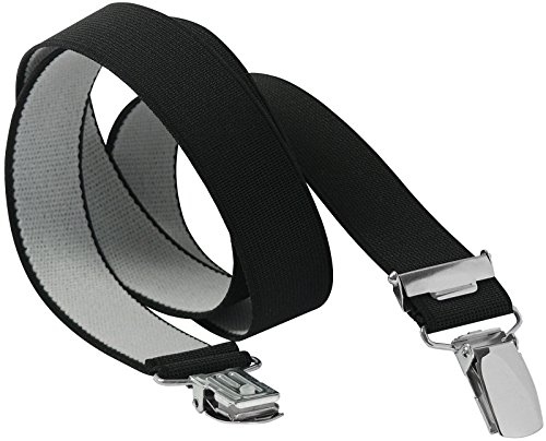 Harrys-Collection Spannbettuch Halter 140 cm lang in 2 Farben, Farben:schwarz