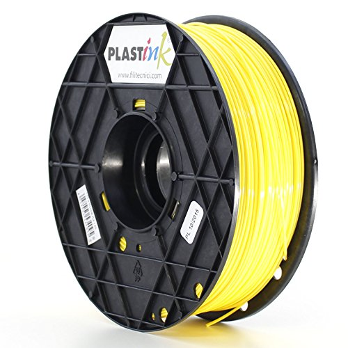 Plastink ABS175YL1 Filamento per Stampante 3D in ABS, Diametro 1.75 mm, Giallo