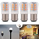 12V low voltage #90 1004 1076 led light bulb BA15D double Contact Bayonet for RV trailer camper motor home marine boat landscape bulb 2.5W 330lm equivalent 35W Warm White 3000K pack of 4
