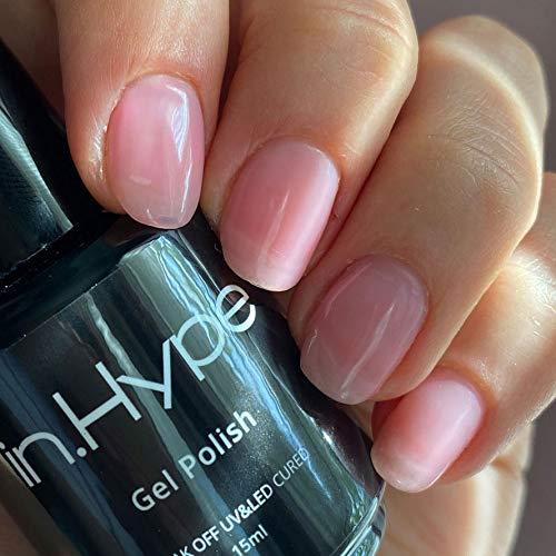 IN.HYPE Gel Polish - Transparent Sheer Pink. LIGHT PETITE PINK #021 UV/LED Cured.