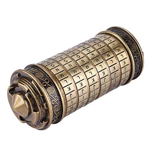 Hongzer Cerradura Cryptex con código Da Vinci, Cerradura con combinación Cryptex con código Da Vinci Regalo romántico con Accesorios, Cerradura de Cilindro Cerradura alfabética con código Da V