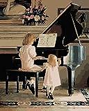 FGHJSF Pintar por Numeros Chica Piano DIY Conjunto Completo de...