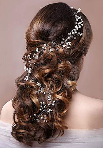 Diadema Vides para el cabello, ideal Swan Golden Nupcial Cristales de boda Joyas Casco decorativo para la boda Accesorios Cabello Vine-adecuado para novias y damas de honor (oro)