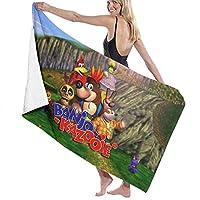 バスタオル バンジョーとカズーイ (2) ビーチタオル ソフトタオル 瞬間吸水バスタオル ビーチマット スボッツタオル ビーチマット ビキニ 柔らかい ビーチ プール