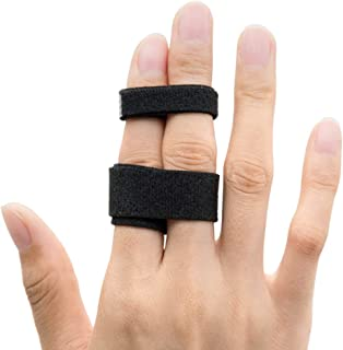 Sumifun Finger Buddy Loops Splint Tape to Treat Broken, 10-Pack Finger Brace splints Straps for Jammed, Swollen or Dislocated Joint