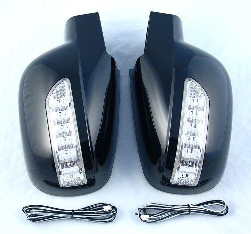 Boîtier de rétroviseur Rexton I/II - Avec clignotant LED gauche et droite - Couleur : noir