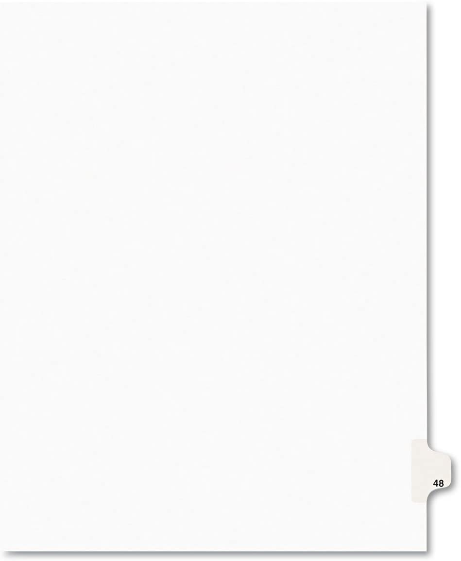 Avery 01048 Legal Exhibit Side Cheap sale Tab Title: Divider Great interest Si 48 Letter