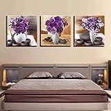 LTTGG HD Print Home Decor Wand 3 Vase Blumen Bild Modular