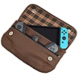 Hide & Drink, Waxed Canvas Switch Compatible Carrying Case, Urban Travel Pouch, Soft Storage Bag, Scratch & Bump Protection, Minimalist Essentials Handmade Includes 101 Year Warranty :: Honey Bourbon