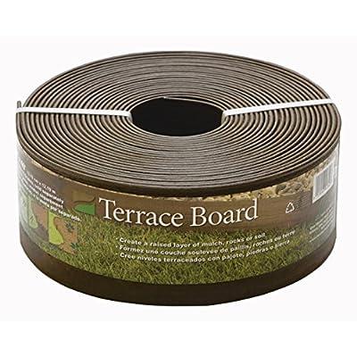 "Master Mark Edgi Terrace Board Landscape Edging 4"" X 40 ' Brown"