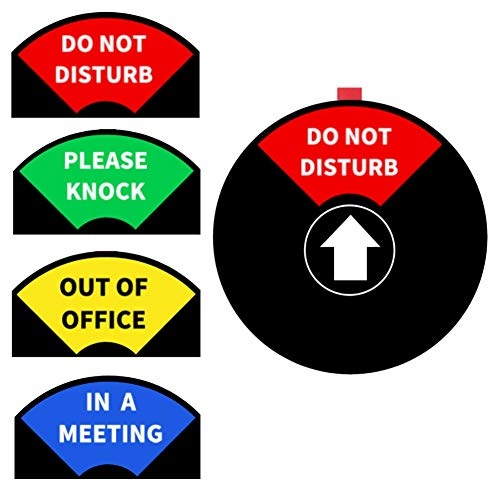 4 Inch Privacy Sign,Privacy Office Sign,Do Not Disturb/Please Knock/in a Meeting/Out of Office/Conference Sign for Offices,Magnetic&Strong Adhesive,PVC Sign (Black, 1 PACK)