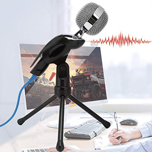Photo of 100Hz -16KHz Plug and Play Microphone, USB Condenser Microphone, for Network Singing Chatting