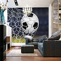 写真の壁紙3D立体空間カスタム大規模な壁紙の壁紙 フットボールリビングルーム現代リビングルームのテレビの背景寝室家の装飾壁画 -450X300cm(177 * 118インチ)