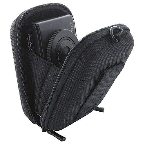 Smart-Planet® Kameratasche Hardcase schwarz - Kompaktkamera – passend für Canon Ixus 180 185 190 HS Powershot – Nikon A10 - Sony DSC W810 WX220 WX350
