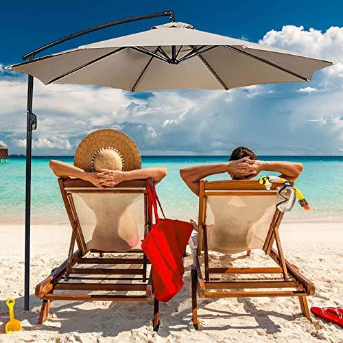 Cubierta de repuesto para sombrilla de jardín, paño de repuesto para sombrilla de playa, tela de repuesto, protección solar, disfruta de la belleza al aire libre. (rojo)