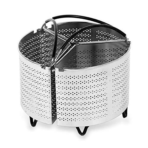 FTYYSWL 3 Stück Geteilter Dampfkorb Edelstahl Instant Pot Zubehör Für Schnellkochtöpfe 6 Qt Küchenherd Werkzeug