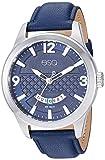 ESQ Men's Stainless Steel Watch w/ Blue Leather Strap FE/0083