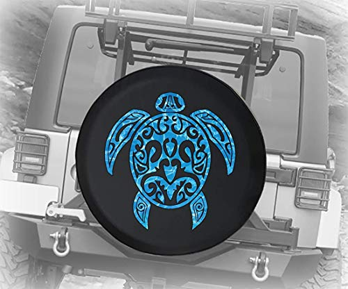 Vervangende velgenafdekking Duiken zeeschildpadden strand zeewater zout water oceaan (geschikt voor: accessoires wrangler, accessoires RV) 14 – 17 inch