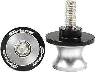 2pcs 8MM M8 X1.5 Motorcycle Swing arm Sliders Spools CNC Swing Arm Stand Screw For SUZUKI SV 650 SV650 SV650S SV 650 S SV650X SV 650 X (Silver)
