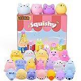 LeeHur Mini Juguete Squishy Juguetes Suave de Alivio de Estrés, Juguetes Curativos Divertidos para Niños y Adultos (20 Animales)