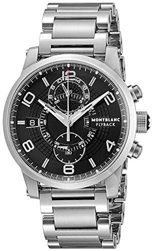 Montblanc TIMEWALKER Black Dial Mens Watch 104286-N