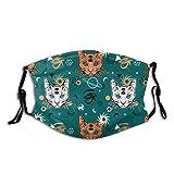 Stil Nahtlose Muster Katze Mode SRC Unisex Baumwolle warmen Gesichtsschutz