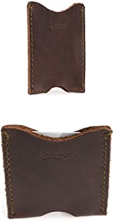 Full Grain Leather Thin Sleeve Credit Card Wallet Includes 100 Year Warranty