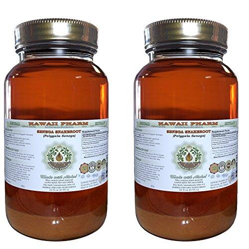 Senega Snakeroot Alcohol-FREE Liquid Extract, Senega Snakeroot (Polygala Senega) Dried Root Glycerite Herbal...