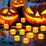 【2020 Neue】ORIA 12 LED Kerzen, Flammenlose Kerzen LED Teelicht Elektrische Kerzen Lichter, Batteriebetriebene Flackern Teelichter Kerzen Tealights für Weihnachten, Hochzeit, Party, etc - 5