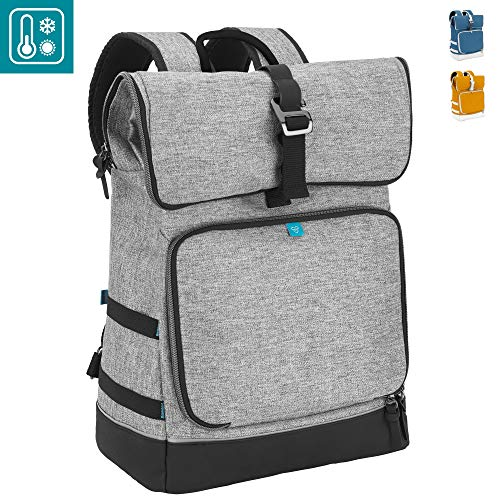 Babymoov Sancy Diaper Bag Backpack   Unisex Back Pack with Heavy Duty Roll-Top Closure, Large Insulated Compartment, Changing Pad and Accessories