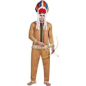 EraSpooky Disfraz de Indio Nativo Americano para Hombre - Fiesta ...